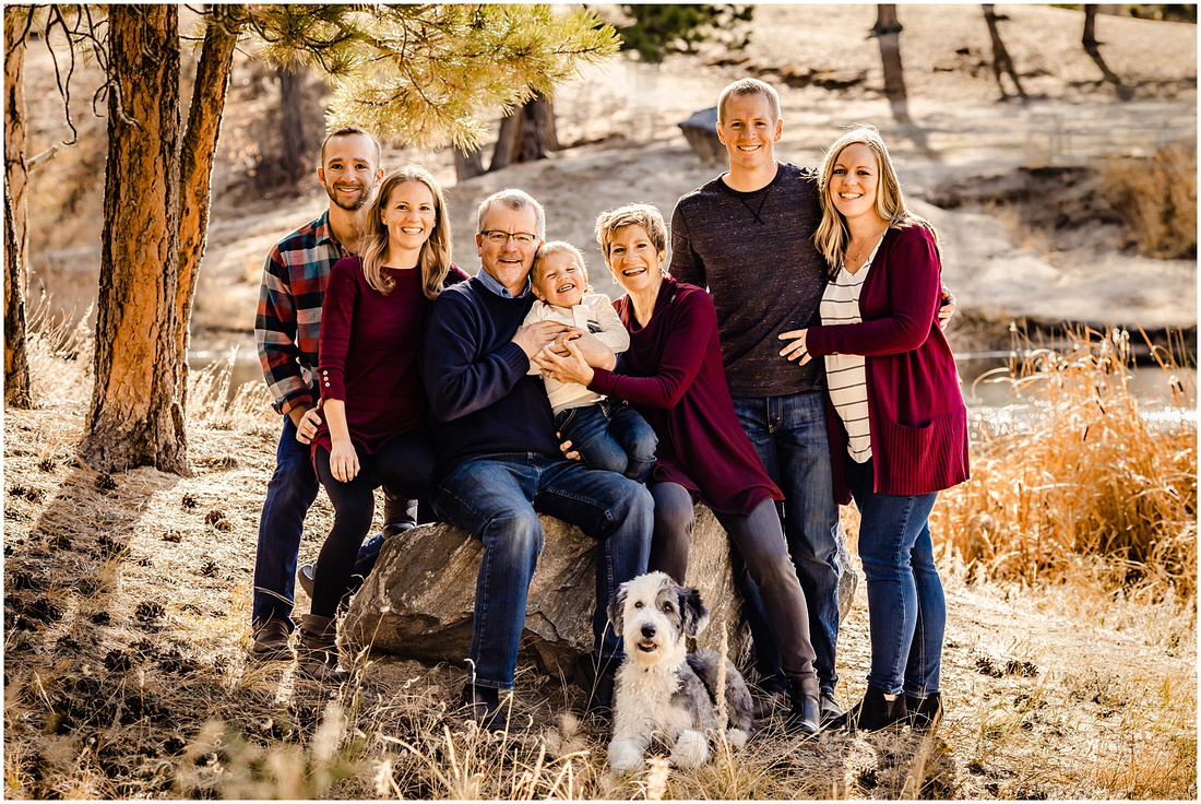 Extended Family Photos in Elizabeth Colorado