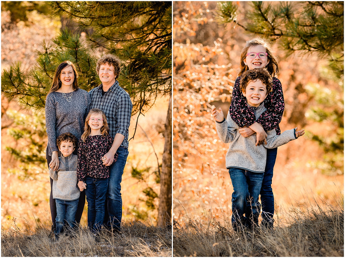 Family of Four in Castle Rock Colorado