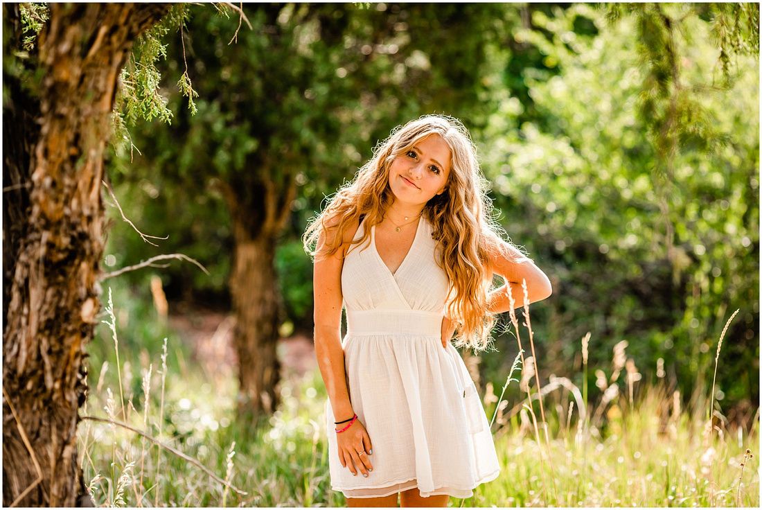 Photos from high school girl's senior photo session