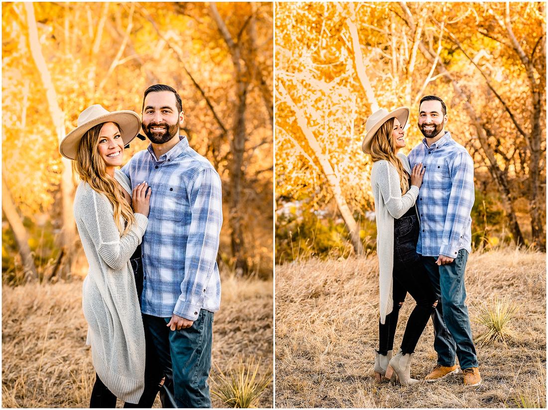 Winter engagement photos in Castle Rock Colorado