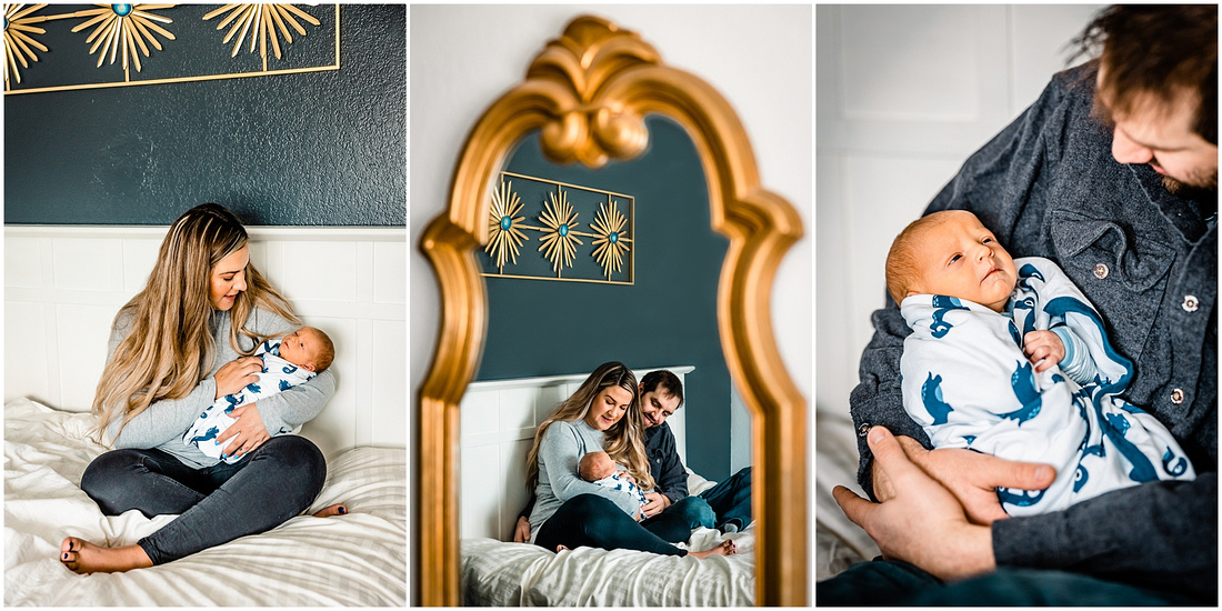 In-home newborn photos in Colorado