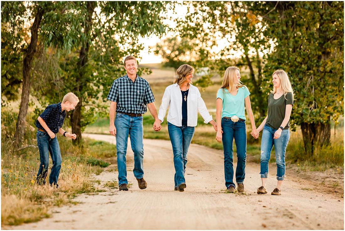 Extended family photos at a Colorado homestead in Kiowa.