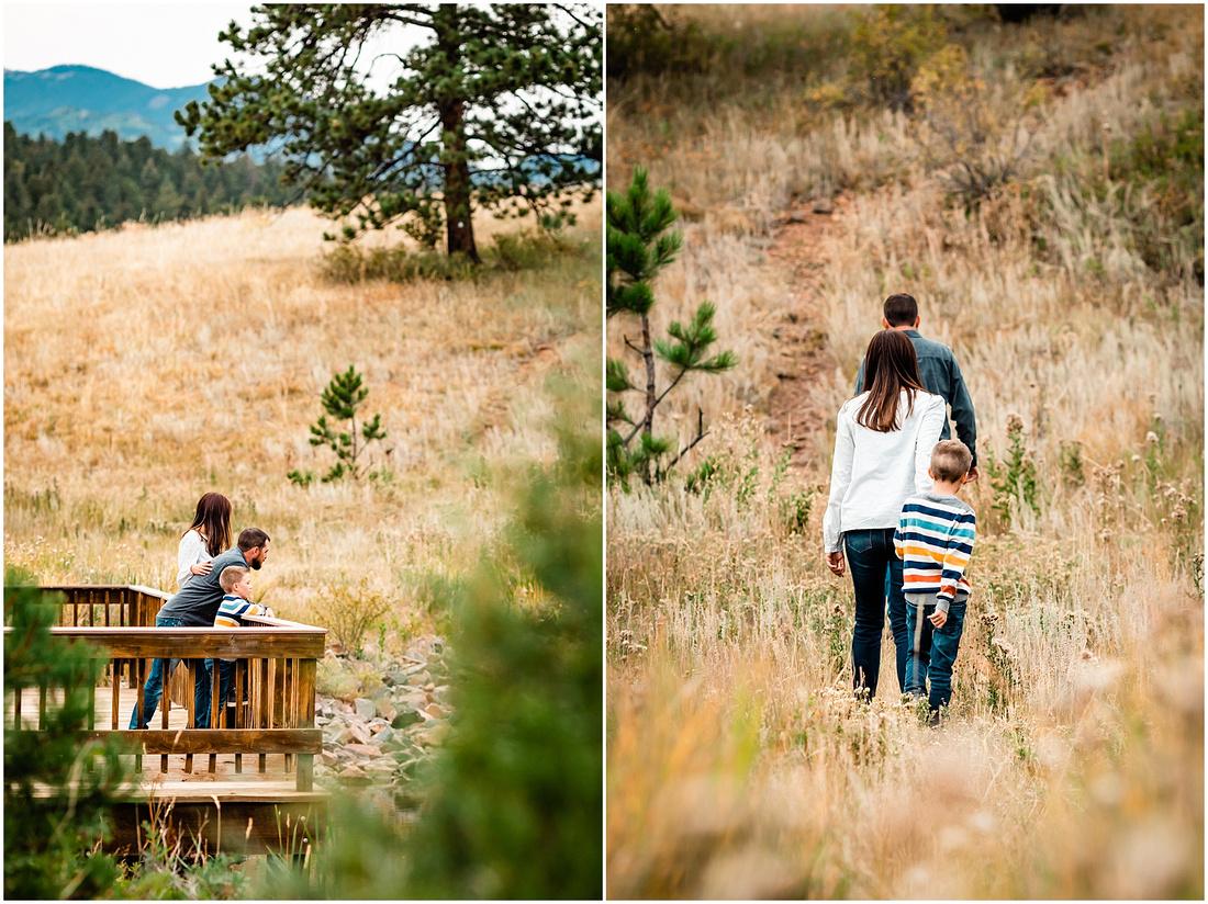 Family photos at Mount Evans Outdoor Lab School in Evergreen, Colorado