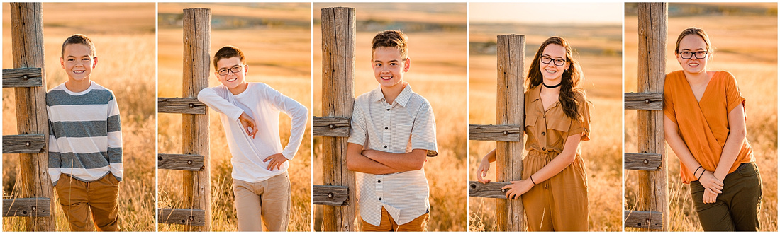 Country family photos with 5 children
