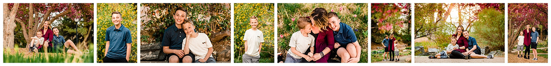 Spring photos of mom with two sons