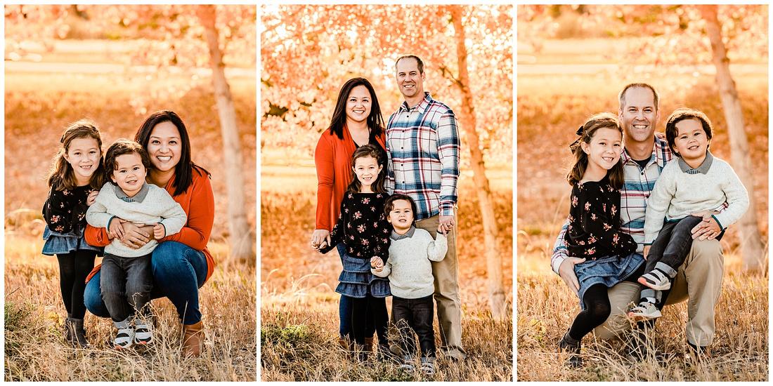 Fall family photos in Parker, Colorado
