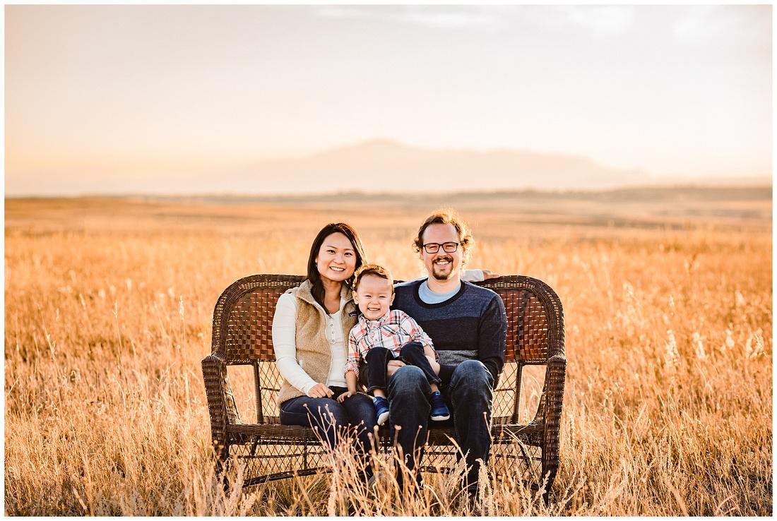 Family photos at a farm in Elbert County Kiowa Colorado