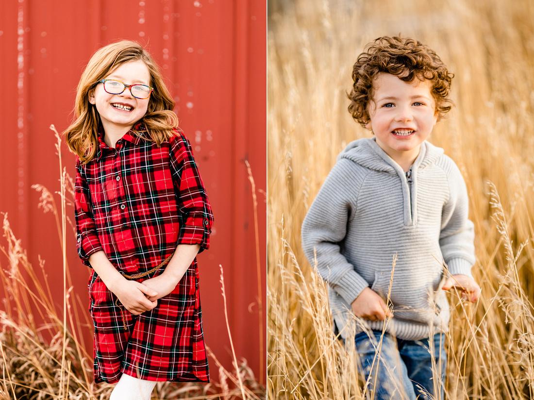 Winter family photos in Kiowa Colorado