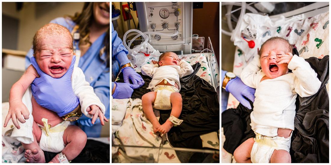 Hospital newborn photos at Castle Rock Adventist Hospital in Colorado