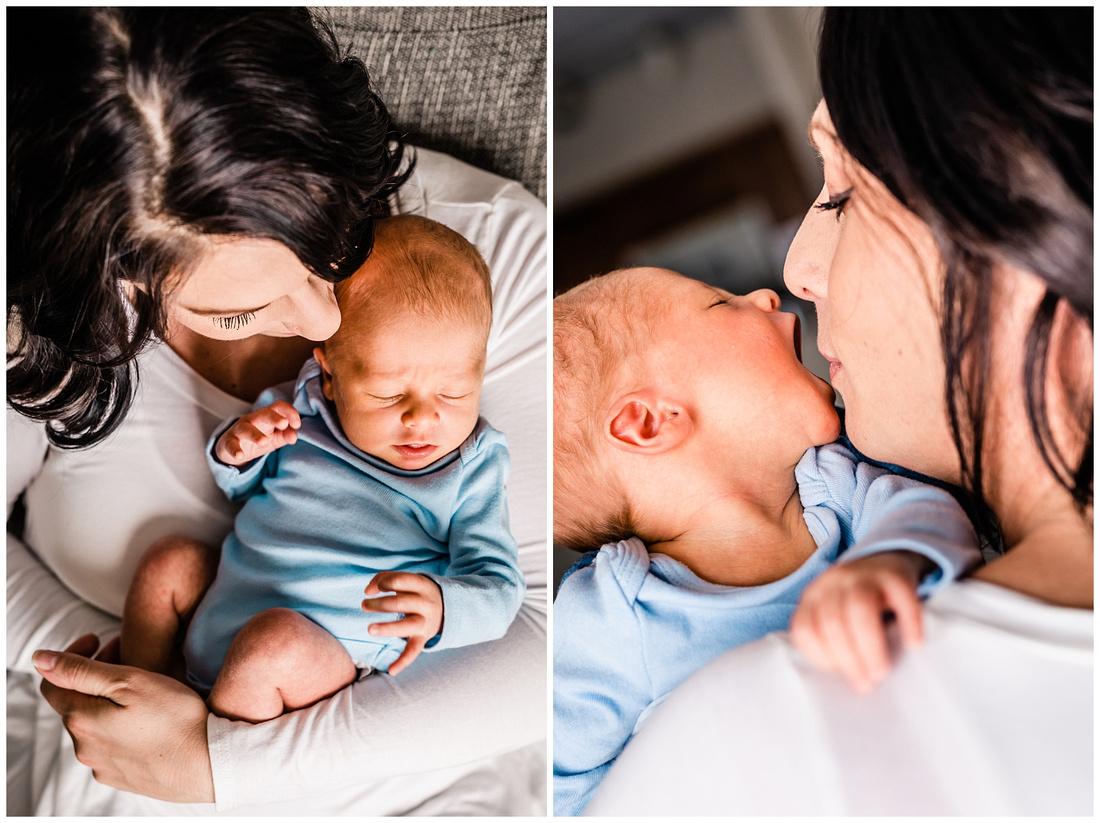 Colorado in-home lifestyle newborn photos