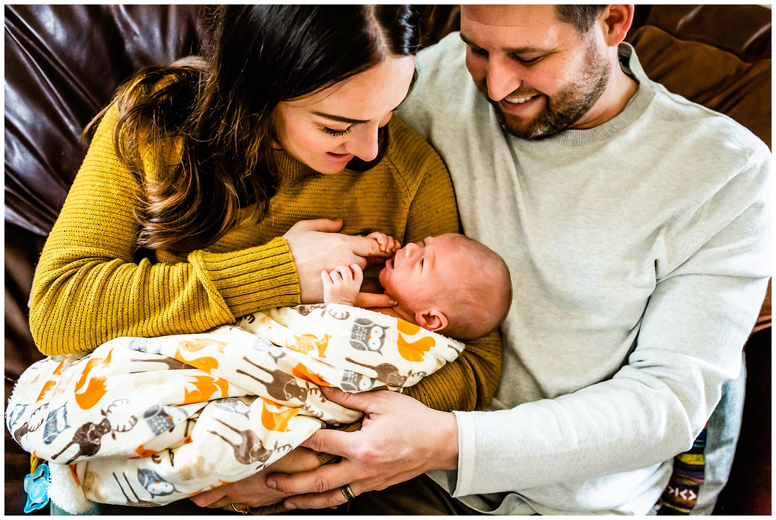 In-home lifestyle newborn photos in Colorado Springs, Colorado