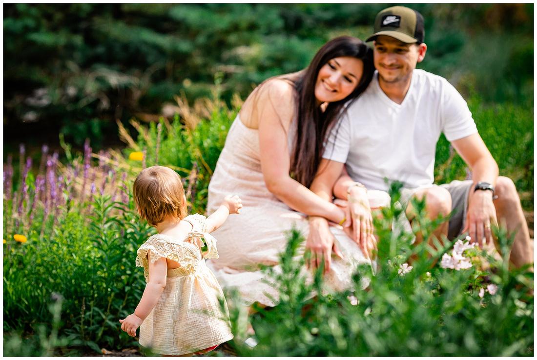 Summer family photos in a Colorado garden