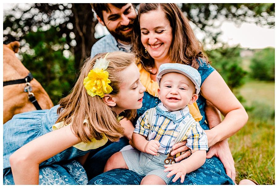 Family of four in Elbert County, Colorado