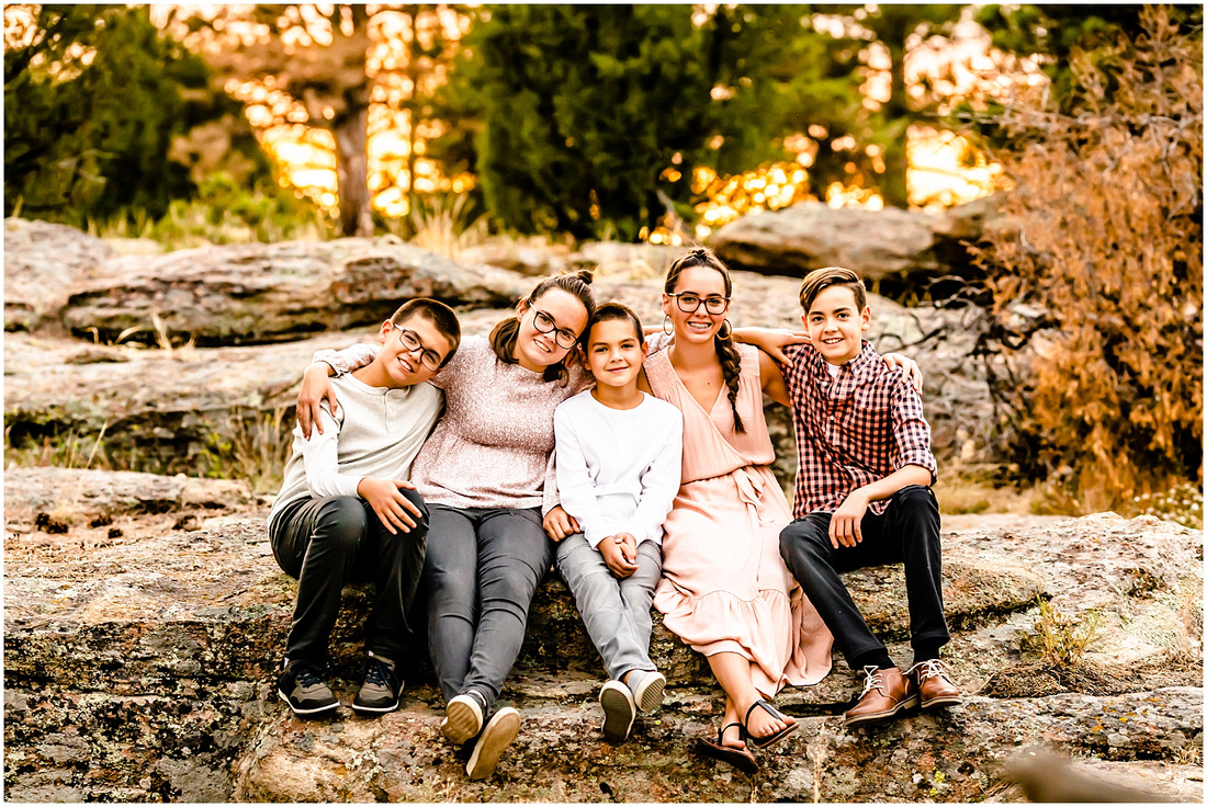 Family photos at Castlewood Canyon State Park in Colorado
