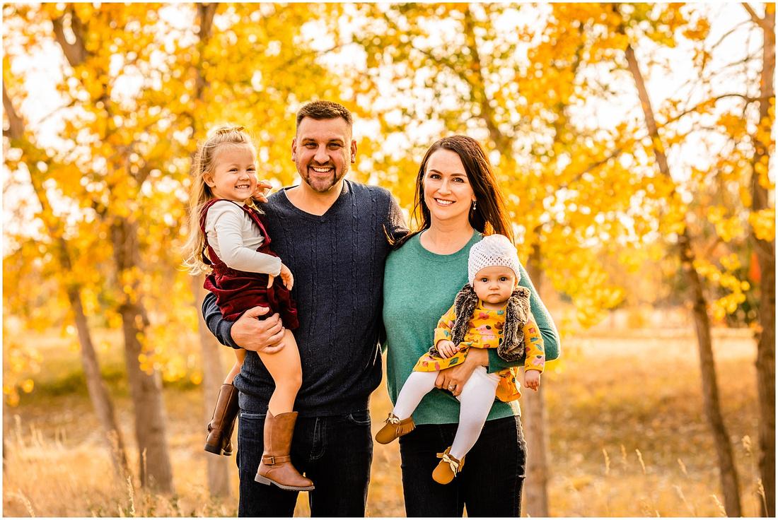 Family photos in the Colorado fall colors